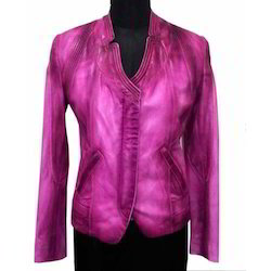 Modern Lamb Satin Leather Jacket