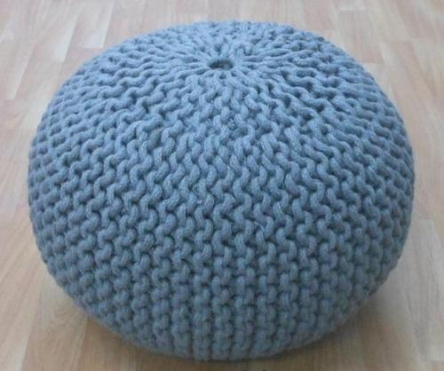 Crochet Pouf Ottoman Hand Crochet Knitted Poufs At Rs 40 Piece Amazing Knitted Poufs Ottomans