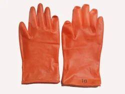 10 PM Orange Rubber Hand Gloves