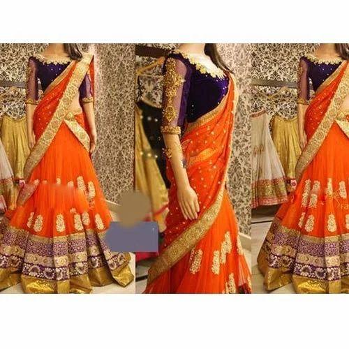 Wedding Lehenga Saree At Rs 1899 Piece S Wedding Lehenga Sarees Id 12441107588