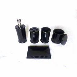 Marbel Black Stone Bathroom Set