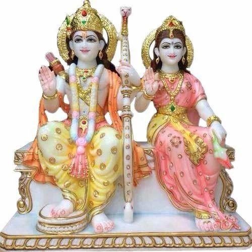Marble Ram Sita Statue - Ram Sita Marble Murti Manufacturer