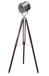 Hollywood Tripod Floor Lamp - 1940's Hand Made Replica