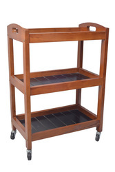 Wooden Spa Trolley