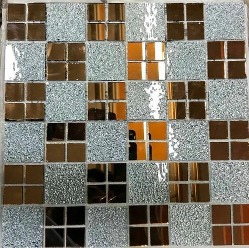 Style Of Silver And Green Glass Mosaic Tile 0 5 Mm Amazing - Model Of Glass Mosaic Wall Tiles Plan