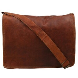 Genuine Leather Mac Book Messenger Bag 132
