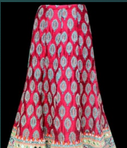 Long A Line Ikat Skirt