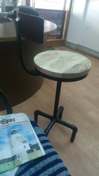 Sanitary Pipe Revolving Stool With Adjustable And Back Rest