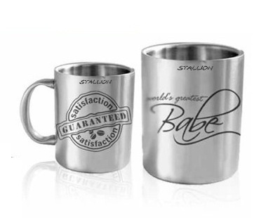 8565833a739 Stallion Silver Double Wall Mug, for Office