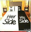 His Side Her Side Cotton Bed-Sheet