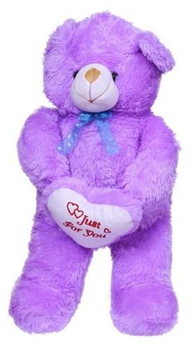 dd96ceadf39 Purple Color With Heart 3 Feet (80cm)teddy Bear