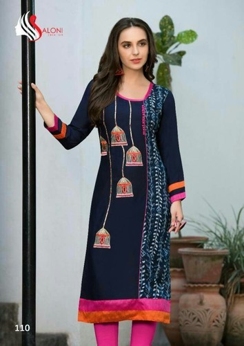 b430a9c24ee Fancy Ladies Kurti-Heavy Rayon at Rs 430  piece