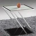Guar Steel Designer Glass Stool, For Home