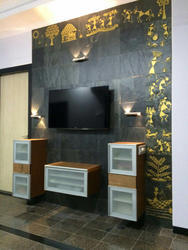 Slate Stone Mural Concepts - LED Wall