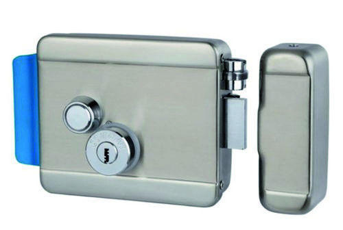ელექტრონული საკეტი Stainless steel electric control RIM lock, Model Item:ACM-Y090 Lock size :125x98x36mm, Working voltage : 12-24V DC, Working current : Over 2A