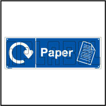 160062 Paper Waste Recycle Dustbin Label