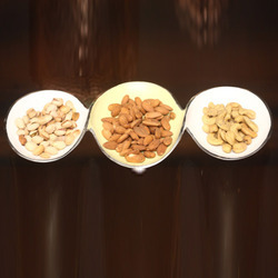 Aluminum Dry Fruits Triple Bowl