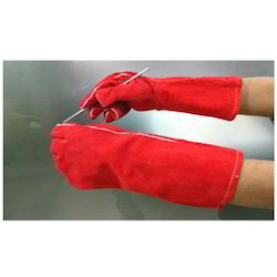 Red Welding Glove