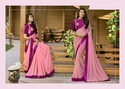 Georgette Saree With Embroidered Blouse