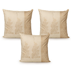 ExclusiveLane Wooden Block Printed Cotton Cushion Cover -