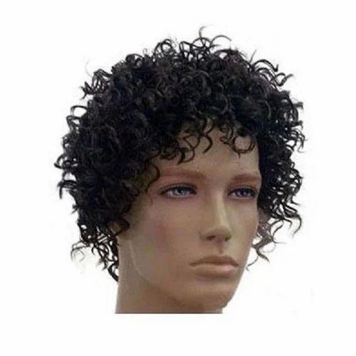 Mens Curly Hair Wig