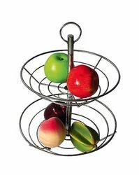 Ridhi sidhi Steel Fruit Basket, Size: 20cm, Packaging Type: Bulk