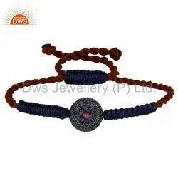 Wholesale Ruby Gemstone Bracelet Macrame Jewelry
