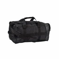 puma black polyester duffle bag