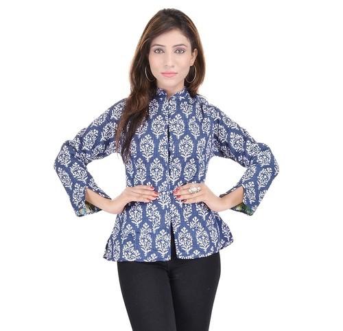 993287b2ec Cotton Indigo Blue Quilted Jacket