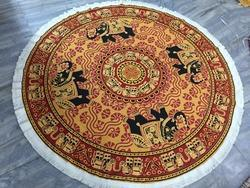 Mandala Elephant Round Indian Printed Tapestries