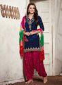 Fancy Unstitched Patiala Suit
