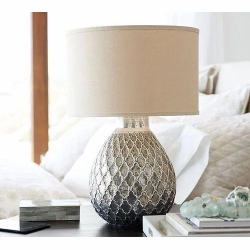 Decorative Metal Hammered Table Lamp