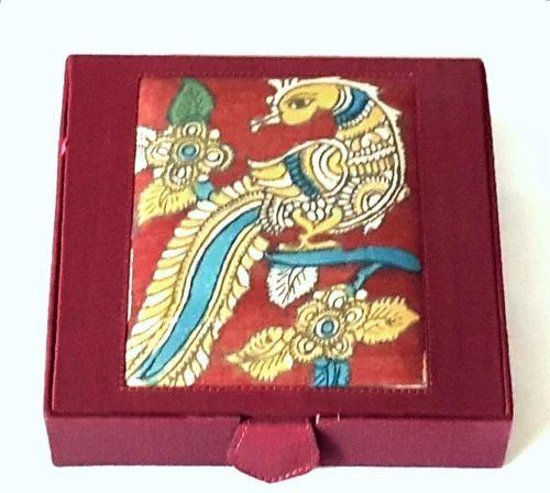 Kalamkari Hand- Painted Jewellery Box