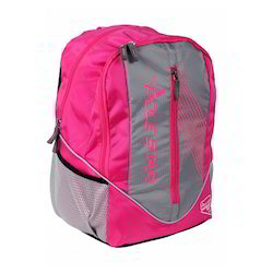 Polyester Pink/grey Laptop Bags