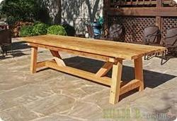 According to client Outdoor Wooden Table