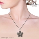 Pave Diamond Flower Pendant