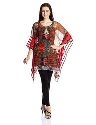 Party Wear Red Colored Designer Kaftan