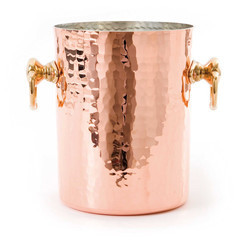 Copper Hammered Wine Ice Beer Bucket NJO-4868