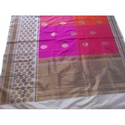 Banarasi Silk Real Zari Gold Ethnic Handloom Silk Saree, With Blouse Piece