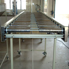 Stainless Steel Roller Belt Conveyor, Capacity: 1-50 kg per feet