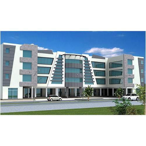 3d Building Elevation 3d Front Elevation: Building Front 3d Design And Elevation Work In Sector 99