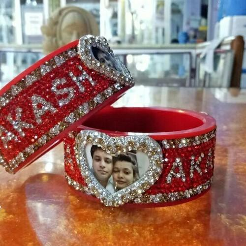 Customized Photo Name Bangles