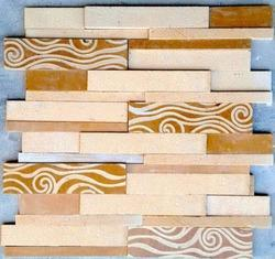 Yellow Stone Carving Mosaic Tiles