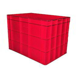 plastic red crates