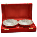 Royal Silver Plated Brass Bowl Gift Set