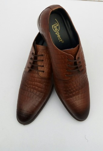 c42644fee2e7 Mens Crocodile Pattern Brown Leather Shoes at Rs 1300 /pair ...