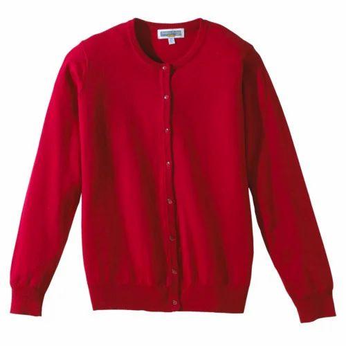 Women Red Wool Sweater, Ladies Ke Uuni Sweater, Ladies Woolen ...