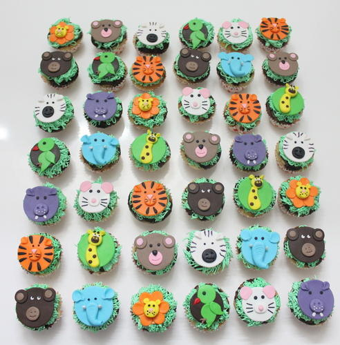 Kids Theme Customized 3d Cupcakes