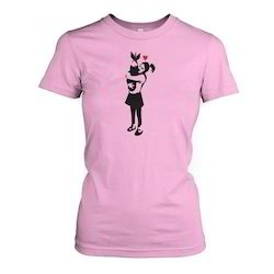 FANCIER Half Sleeve Ladies Designer T-Shirt, 160 Gsm