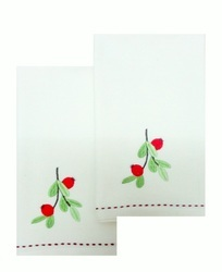 White Embroidery Kitchen Towel